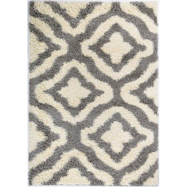 Koontz Shaggy Stylish Comfortable Elegant Gray/Cream Area Rug by House of Hampton