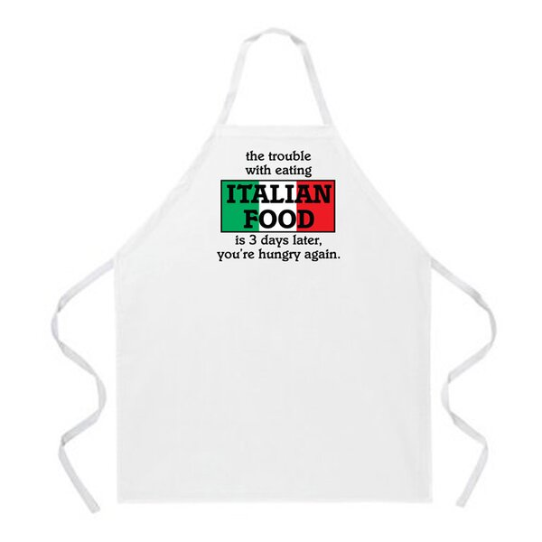 Italian Food Apron by Attitude Aprons by L.A. Imprints
