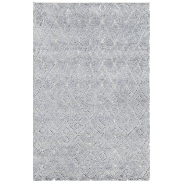Alland Hand-Knotted Blue Area Rug by Foundry Select
