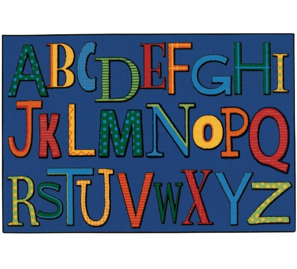 Playful Alphabet Kids Rug by Kids Value Rugs