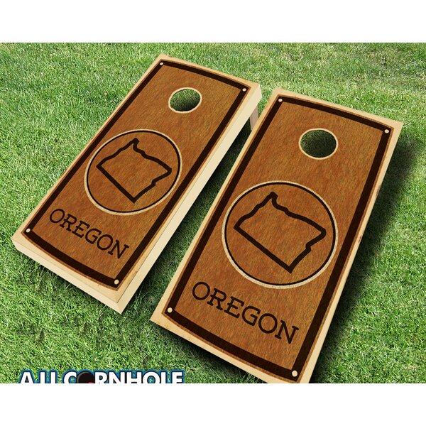 Oregon Stained 10 Piece Cornhole Set by AJJ Cornhole