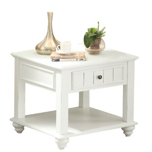Collin Bottom Shelf Wooden End Table with Storage
