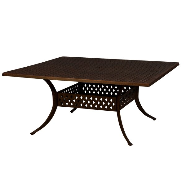 Aldrich Aluminum Dining Table by Darby Home Co
