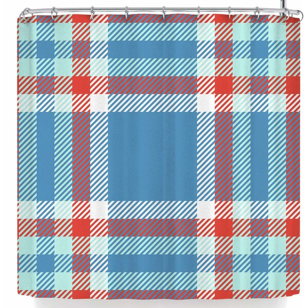 Kess Original Sky and Plaid Shower Curtain by East Urban Home