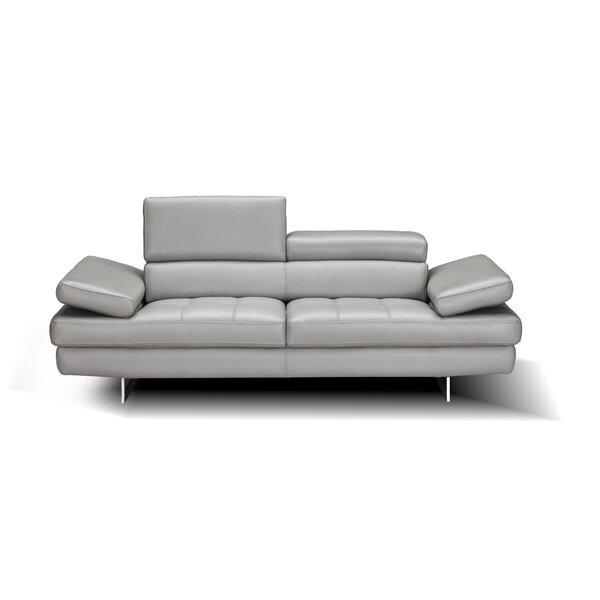 Maxwell Leather Loveseat By Orren Ellis Today Only Sale