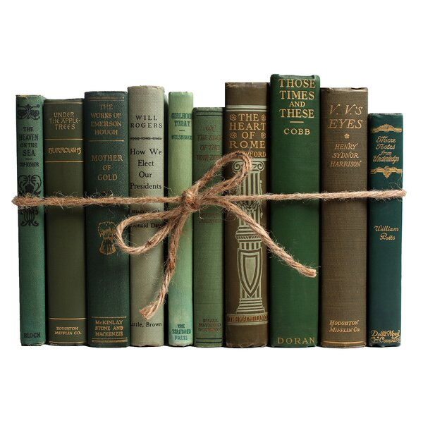 Authentic Decorative Books - By Color Antique Boxwood ColorPak (1 Linear Foot, 10-12 Books) by Booth & Williams