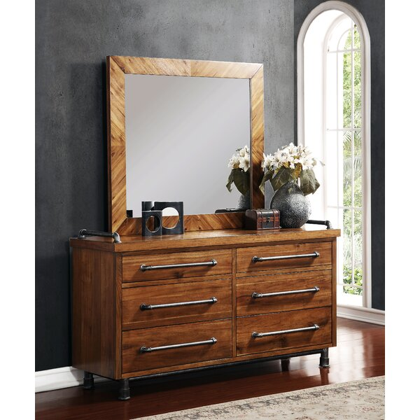 Perei 6 Drawer Double Dresser by 17 Stories