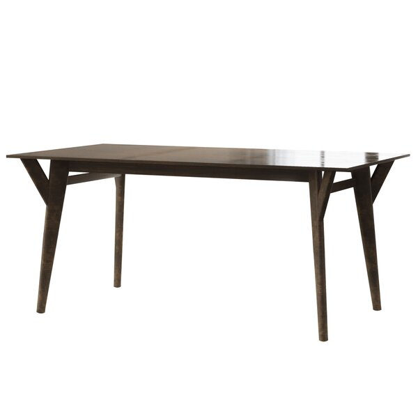 Greenstein Retro Mid Century Solid Wood Dining Table by George Oliver