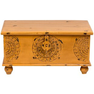 Roswell Hand Carved Medallion Coffee Table Trunk Bungalow Rose
