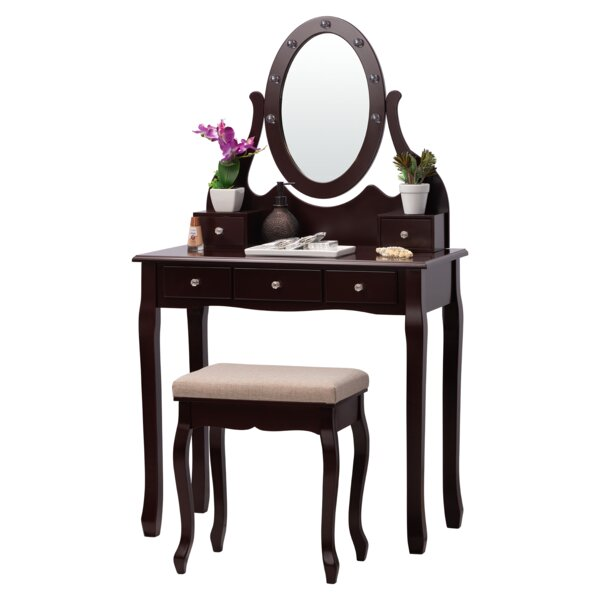 Griggs Vanity Set with Mirror by Rosdorf Park