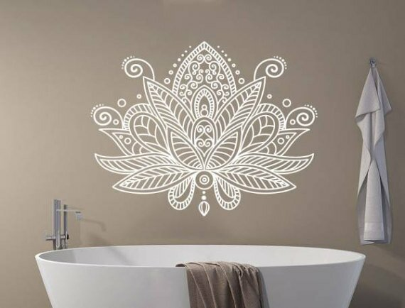 bungalow rose estrella lotus flower mandala wall decal | wayfair