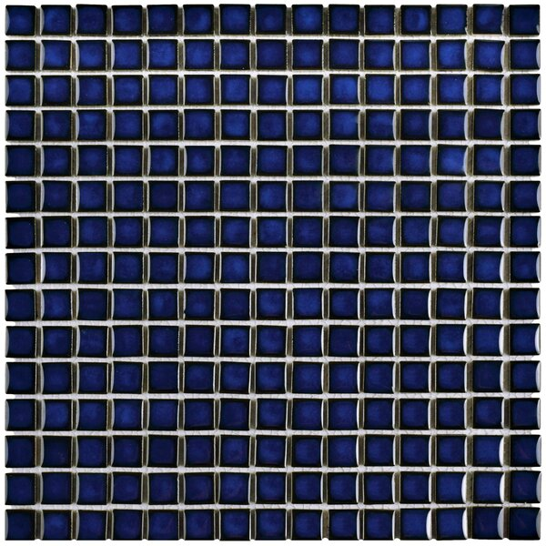 Morgan 0.72 x 0.72 Porcelain Mosaic Tile in Cobalt by EliteTile