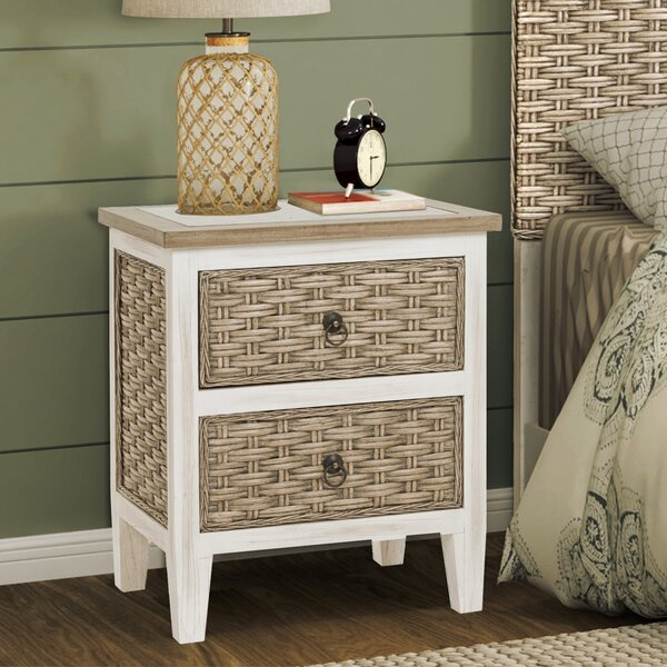 Eversole Sea 2 Drawer Nightstand by Bay Isle Home