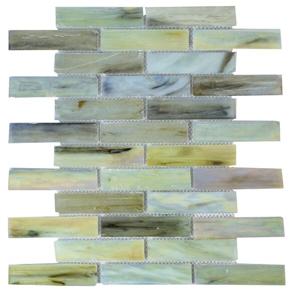 Contemporeano 1 x 4 Glass Mosaic Tile in Blend by Byzantin Mosaic