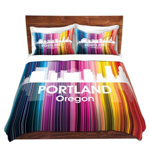 City II Portland Oregon Duvet Cover Set