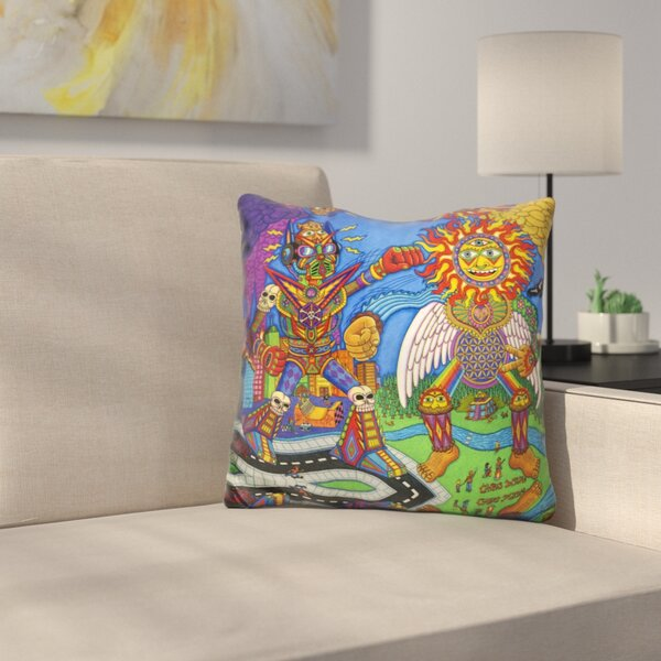 The Battle of Mind N Soul Throw Pillow by East Urban Home