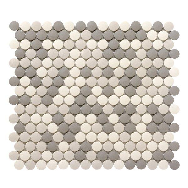 Zone 0.8 x 0.8 Porcelain Mosaic Tile in Light Blend by Emser Tile