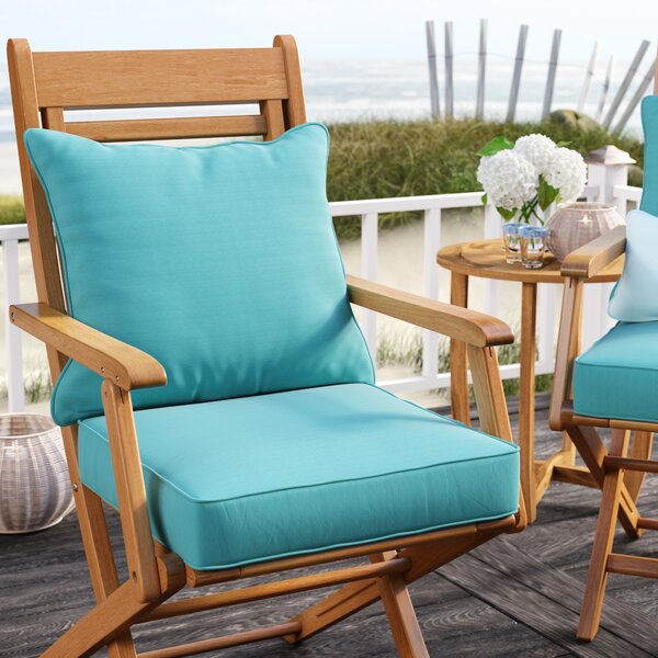 Indoor/Outdoor Sunbrella Lounge Chair Cushion (Set of 2) by Rosecliff Heights