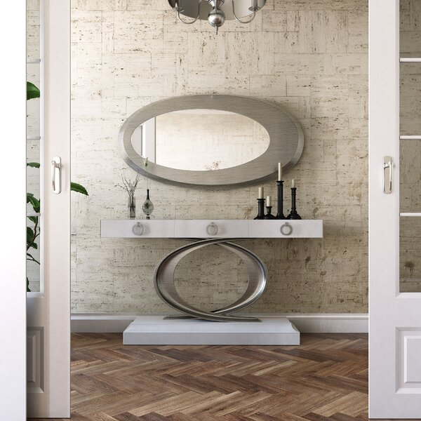 Discount Willet Console Table And Mirror Set