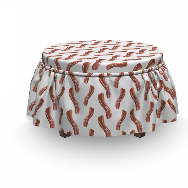 Delicious Protein Meal Ottoman Slipcover (Set Of 2) By East Urban Home