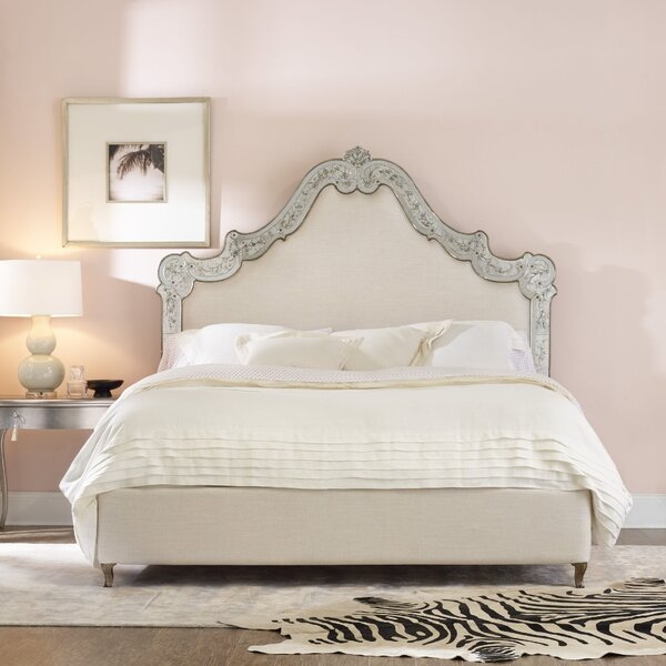 Swirl Upholstered Standard Bed by Cynthia Rowley