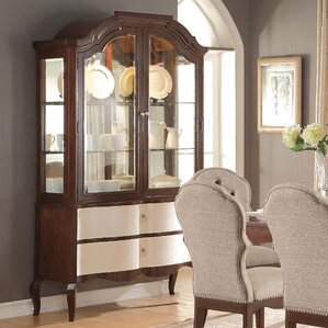 Daxten Lighted China Cabinet by Darby Home Co Best Reviews