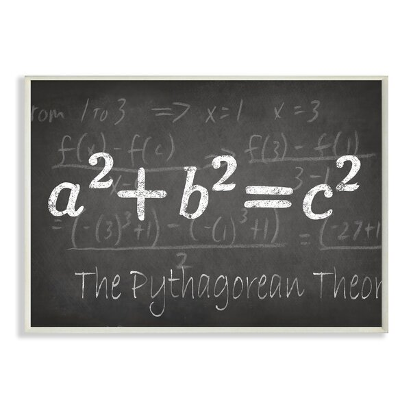 The Pythagorean Theorem Textual Art by Stupell Industries