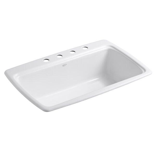 Cape Dory 33 L x 22 W x 9-5/8 Top-Mount Single-Bowl Kitchen Sink by Kohler