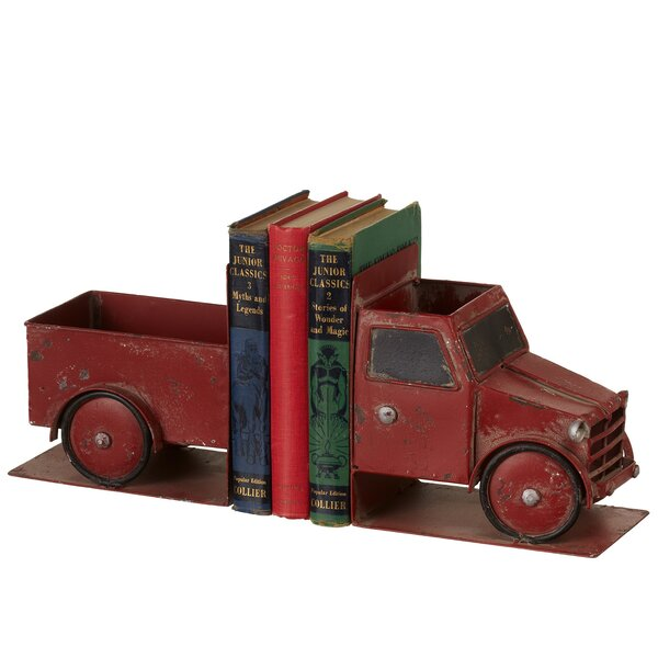 Skillings Distressed Truck Bookends (Set of 2) by August Grove