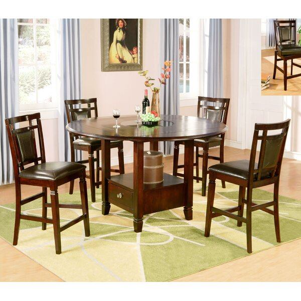 5 Piece Drop Leaf Dining Set by Wildon Home®