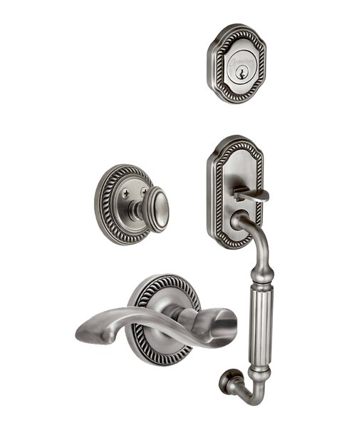 Newport F-Grip Left Hand Door Lever by Grandeur