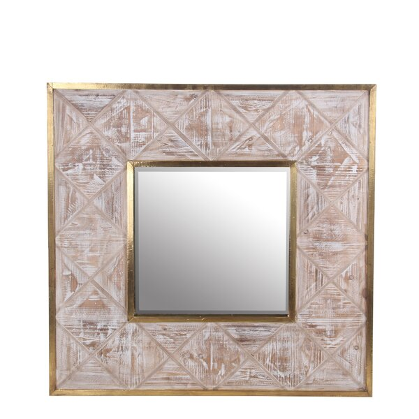 Square Beveled Accent Wall Mirror by Loon Peak