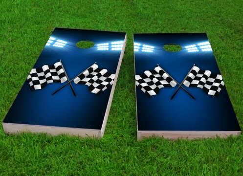 Checkered Flag Cornhole Game (Set of 2) by Custom Cornhole Boards