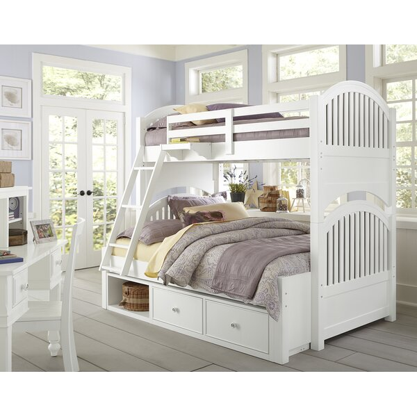 Javin Twin Over Full Bunk Bed with Storage by Harriet Bee
