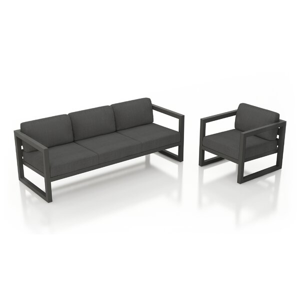 Remi 2 Piece Sofa Seating Group with Sunbrella Cushions by 17 Stories