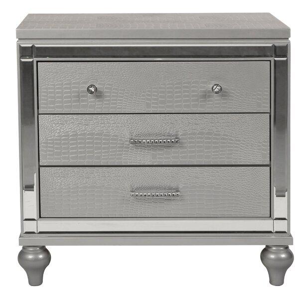 Ferri 3 Drawer Nightstand by House of Hampton