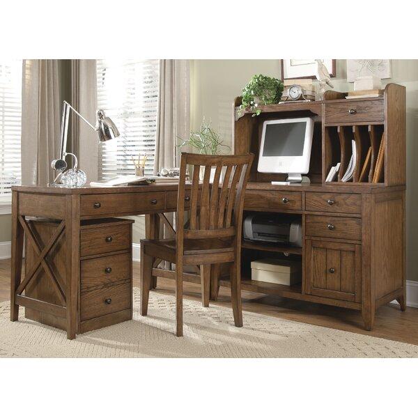 Methuen 6 Piece L-Shape Desk Office Suite by Loon Peak