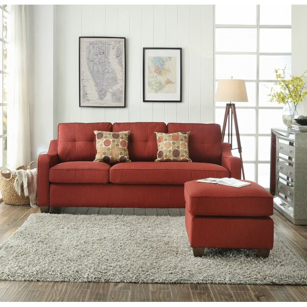 Mayna Reversible Sectional with Ottoman by Brayden Studio