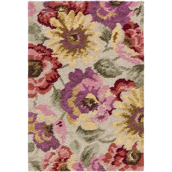 Shondra Cynthiana Hand-Knotted Tan Area Rug by August Grove