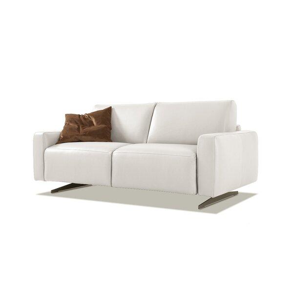 Holdridge Genuine Leather 80'' Square Arm Sofa Bed by Orren Ellis Orren Ellis