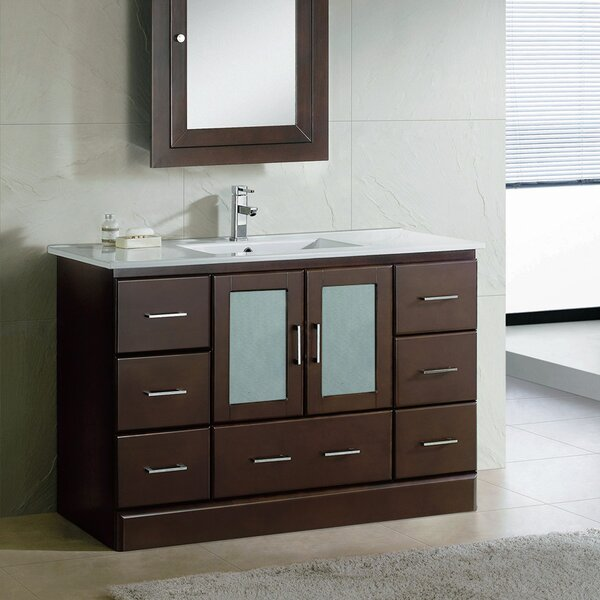Rethman Contemporary 48 Single Bathroom Vanity Set by Latitude Run