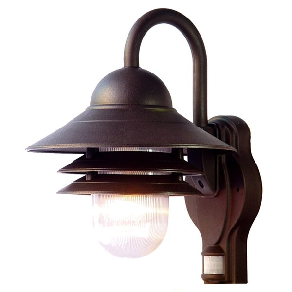 Caja 1-Light Outdoor Sconce by Breakwater Bay