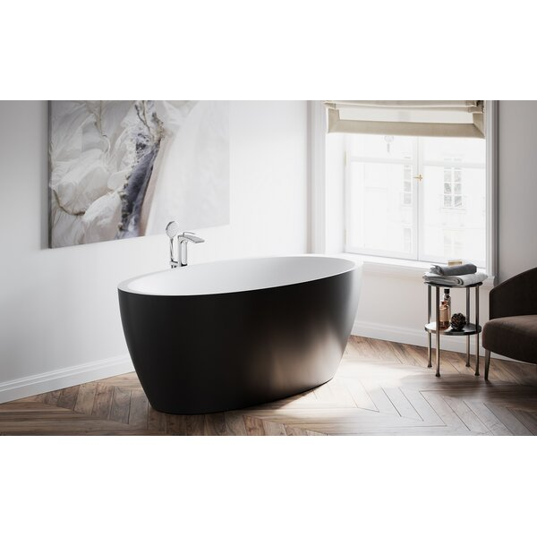 Sensuality 69.75 x 35 Freestanding Soaking Bathtub by Aquatica