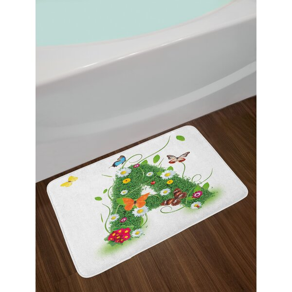 Spring Letter X Bath Rug by East Urban Home