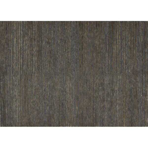Turley Hand-Knotted Brown Area Rug by Millwood Pines