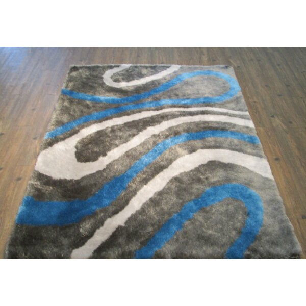Clearwell Modern Hand-Tufted Blue Area Rug by Orren Ellis