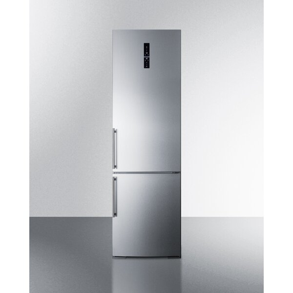 Summit 12.8 Cu. Ft. Counter Depth Bottom Freezer Refrigerator with Icemaker by Summit Appliance