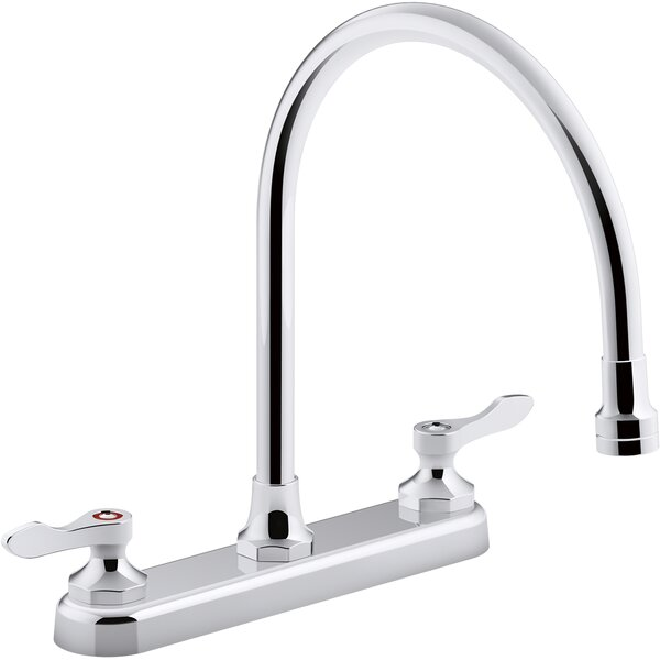 1.8 Gpm Triton Bowe 1.5 Gpm Kitchen Sink Faucet With 9-516 In. Gooseneck Spout Aerated Flow And Lever Handles By Kohler