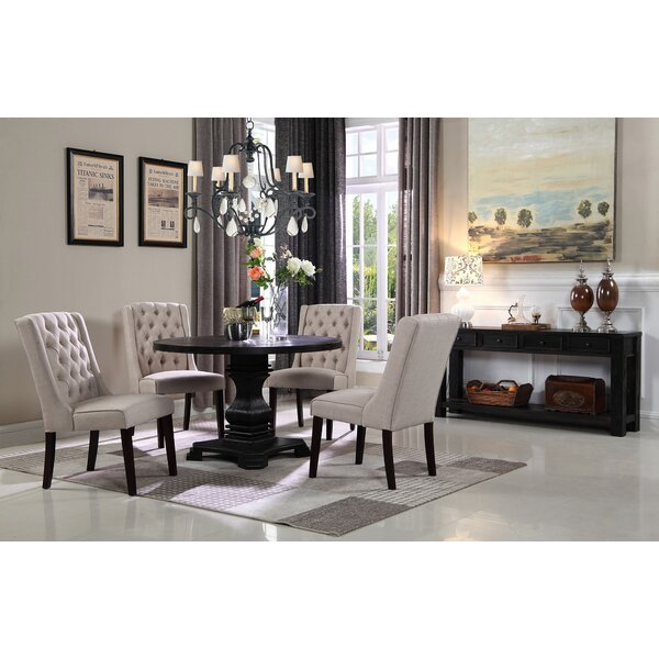 Motta 5 Piece Solid Wood Dining Set by House of Hampton