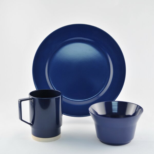12 Piece Melamine Dinnerware Set, Service for 4 by Galleyware Company